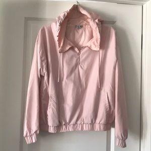 Rose gold active zip hoodie